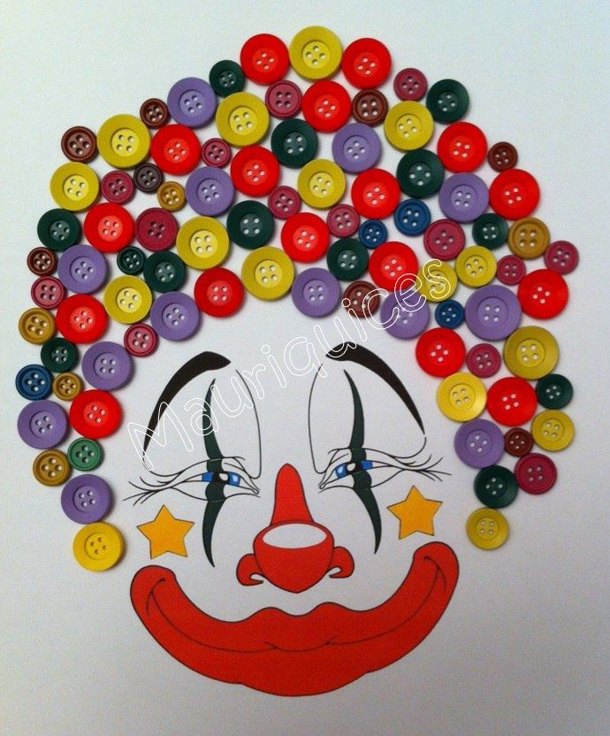 Лицо клоуна своими руками