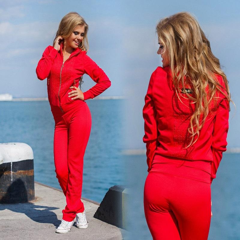 Купить Спортивный Красный Костюм Женский